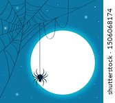 A Spider With Cobweb On The...