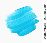 blue brush paint acrylic... | Shutterstock .eps vector #1506069584