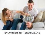 Beautiful Happy Family Having...