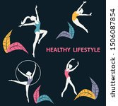 sports dances   silhouettes of... | Shutterstock .eps vector #1506087854