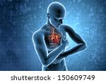 myocardial. heart attack concept | Shutterstock . vector #150609749