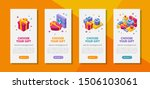 banners template with isometric ... | Shutterstock .eps vector #1506103061