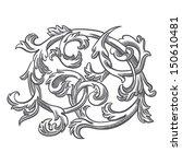 baroque element illustration   Shutterstock .eps vector #150610481