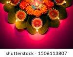 happy dussehra. clay diya lamps ... | Shutterstock . vector #1506113807
