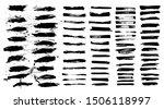 ink splashes vector set. black... | Shutterstock .eps vector #1506118997