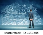 back view image of young... | Shutterstock . vector #150613505