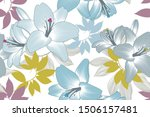 seamless floral background with ... | Shutterstock .eps vector #1506157481
