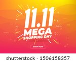 11.11 mega shopping day sale... | Shutterstock .eps vector #1506158357