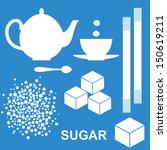 Sugar. Icon Set. Isolated Suga...