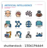 artificial intelligence icon... | Shutterstock .eps vector #1506196664