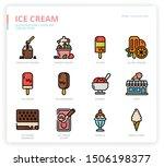ice cream icon set for web... | Shutterstock .eps vector #1506198377