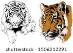 set of vector drawings on the... | Shutterstock .eps vector #1506212291