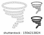 mesh tornado model with... | Shutterstock .eps vector #1506213824