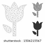mesh tulip model with triangle... | Shutterstock .eps vector #1506215567