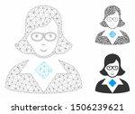 mesh teacher lady model with... | Shutterstock .eps vector #1506239621