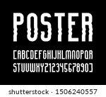 vector modern font and alphabet ... | Shutterstock .eps vector #1506240557