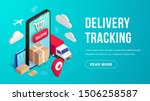 delivery online tracking... | Shutterstock .eps vector #1506258587