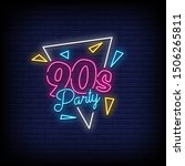 90s party neon signs style text ...   Shutterstock .eps vector #1506265811