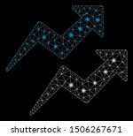 glossy mesh trends arrows with... | Shutterstock .eps vector #1506267671