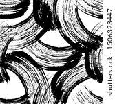 vector abstract black brush...   Shutterstock .eps vector #1506323447