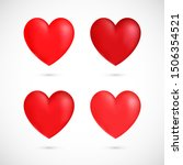 vector red hearts collection.... | Shutterstock .eps vector #1506354521