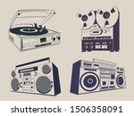 vintage music recorders  reel...   Shutterstock .eps vector #1506358091