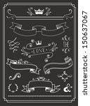 chalkboard wedding graphic set  ... | Shutterstock .eps vector #150637067