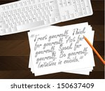 computer keyboard  sheet of...