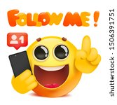follow me template card with... | Shutterstock .eps vector #1506391751