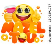 yellow emoji 3d cartoon... | Shutterstock .eps vector #1506391757