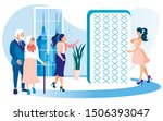 women shop assistant and... | Shutterstock .eps vector #1506393047