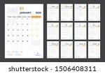 2020 calendar planner set for... | Shutterstock .eps vector #1506408311