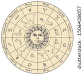 vector circle of the zodiac... | Shutterstock .eps vector #1506428057