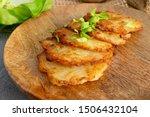 potato pancakes  draniki ...   Shutterstock . vector #1506432104