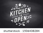kitchen open. wall decor ... | Shutterstock .eps vector #1506438284