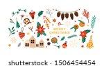 christmas festive flat vector... | Shutterstock .eps vector #1506454454