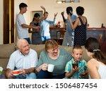Happy Large Multiethnic Family...