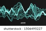 vector 3d echo audio wave from...   Shutterstock .eps vector #1506495227