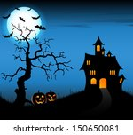 halloween night background with ... | Shutterstock .eps vector #150650081