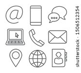 contact line icons on white...   Shutterstock .eps vector #1506512354