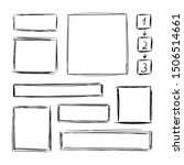 collection of hand drawn... | Shutterstock . vector #1506514661