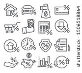 loan and credit line icons on... | Shutterstock . vector #1506518864
