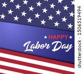 usa labor day vector design.... | Shutterstock .eps vector #1506519494