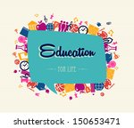 colorful back to school global... | Shutterstock .eps vector #150653471
