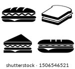 sandwich icon  logo isolated on ... | Shutterstock .eps vector #1506546521