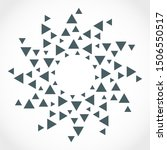 radial triangles in circle form.... | Shutterstock .eps vector #1506550517