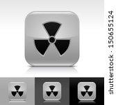radiation icon set. gray color...