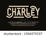 antique style font  alphabet... | Shutterstock .eps vector #1506575237