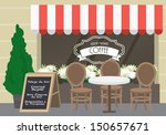 al fresco cafe vector... | Shutterstock .eps vector #150657671