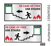 rectangle fire exit door or... | Shutterstock .eps vector #150659201